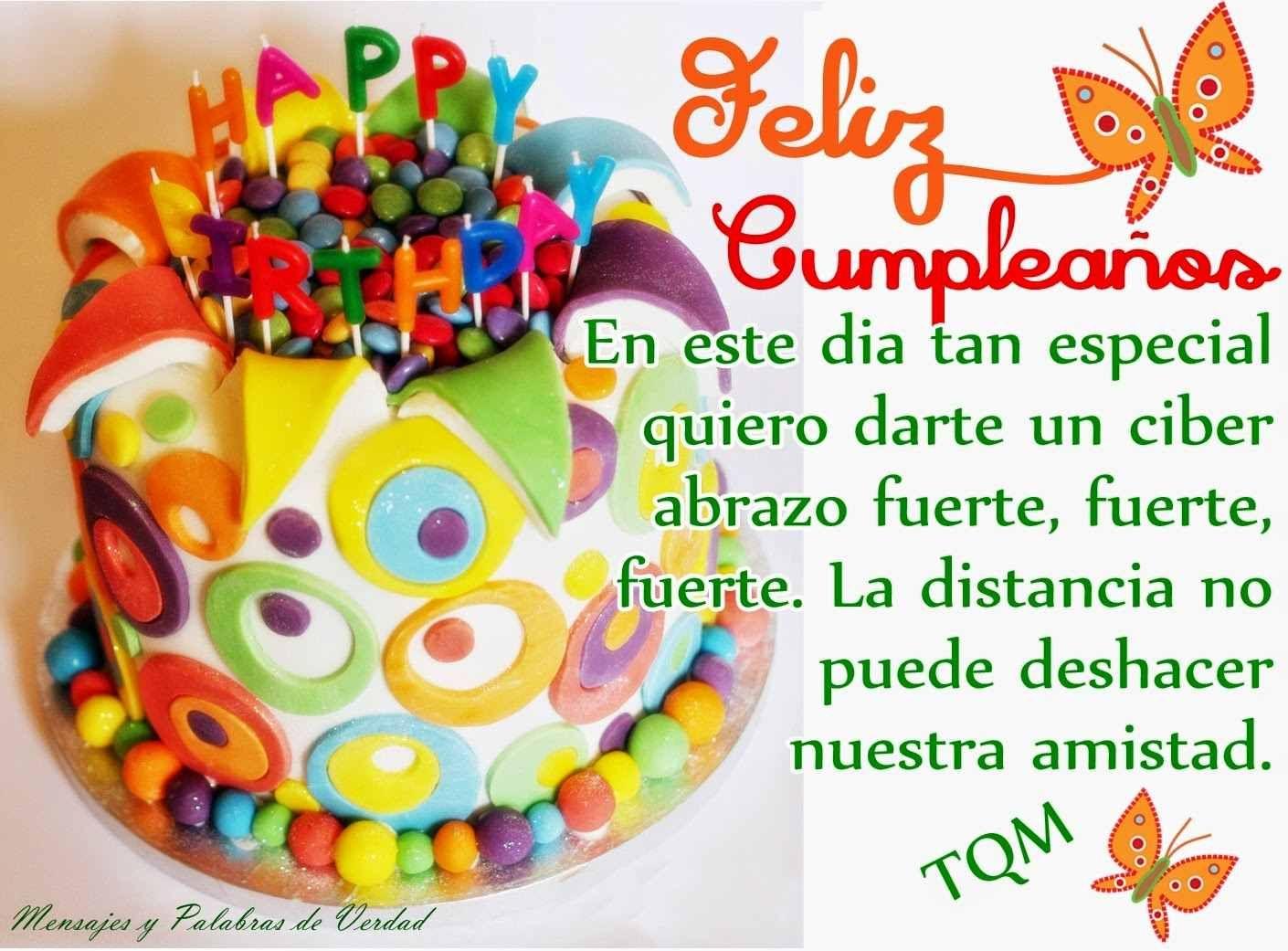 Tarjetas Postales de Feliz Cumpleaños para dedicar a tus amigos con bonitos mensajes en imagenes