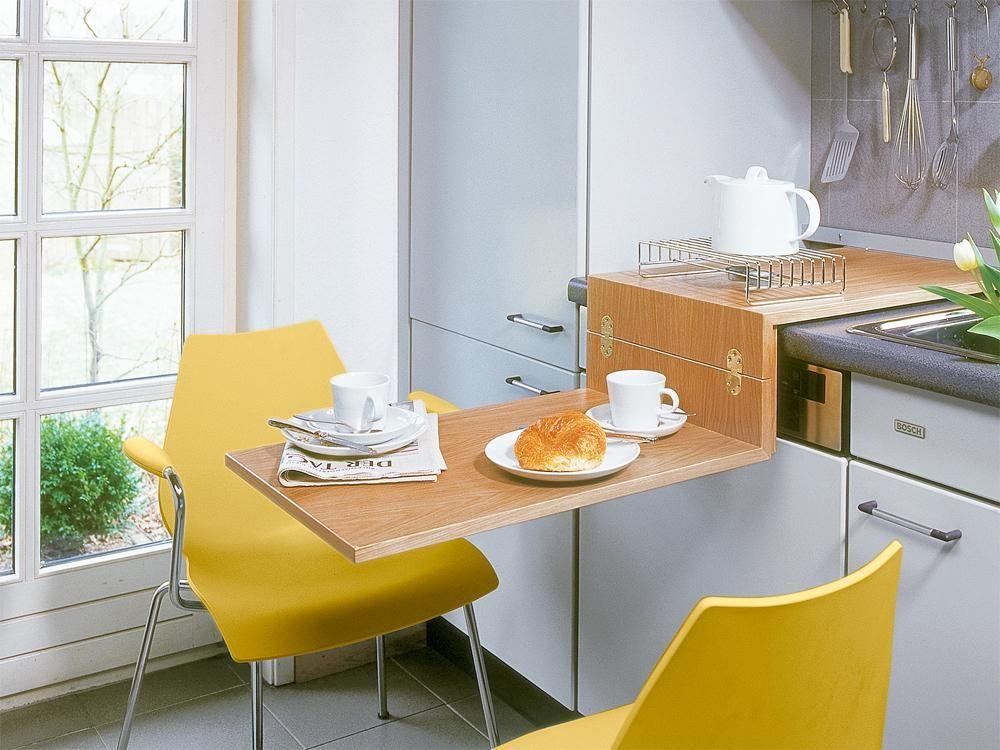 mazas virtuves dizains 2016-22 astucieux, le plateau se replit - klapptisch für küche