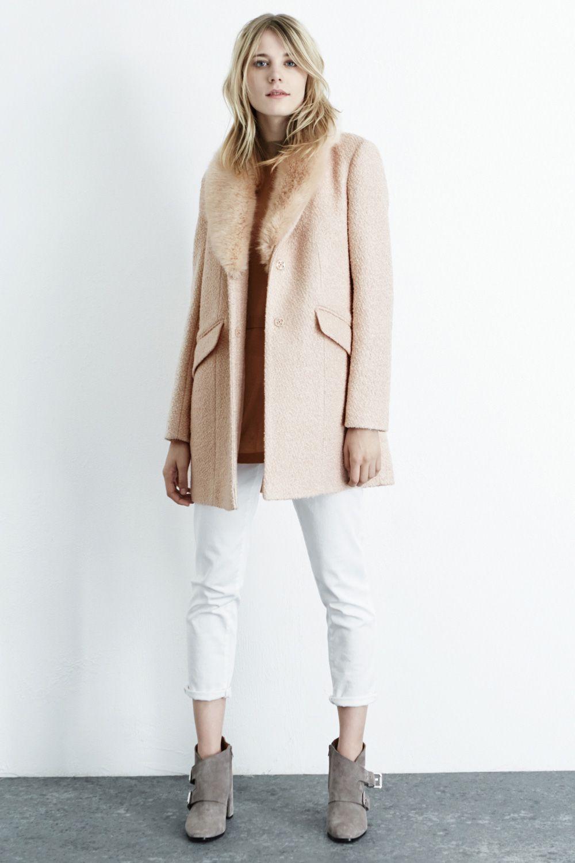Tweed Faux Fur Collar Coat | Warehouse Tweed Fur Coat | Currently ...