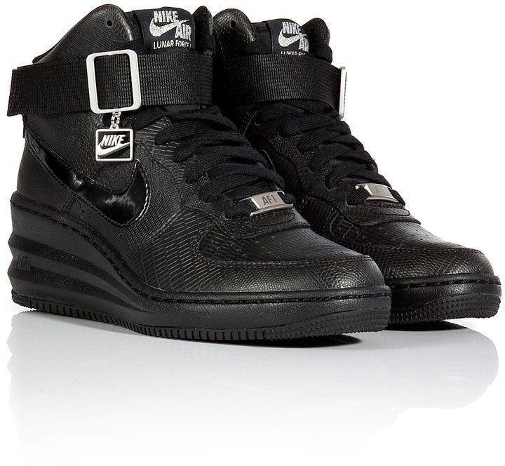 Nike Lunar Force Sky Hi Wedge Sneakers