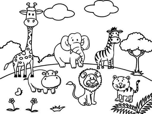 dieren kleurplaat in 2020 dieren kleurplaten dieren