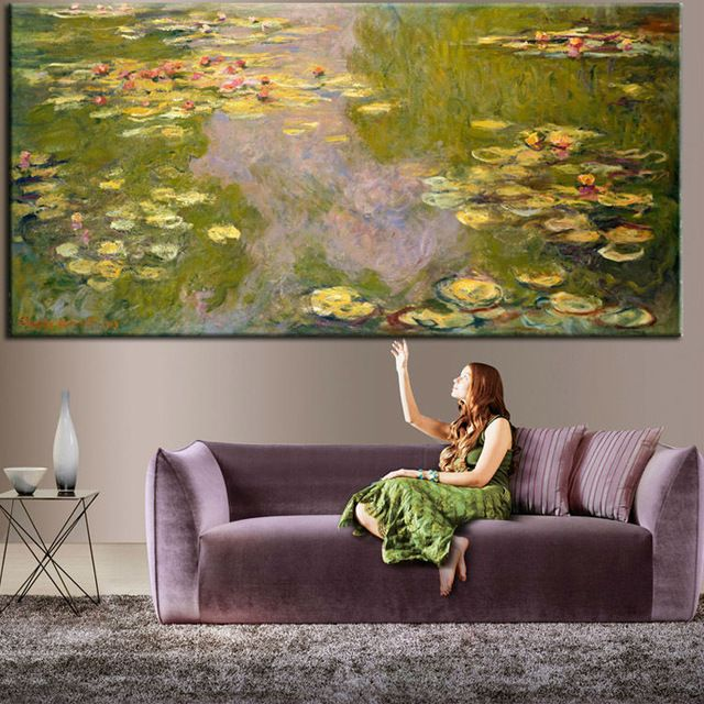 The Water Lily Murals Custom Wallpaper Claude Monet Painting Photo Room Decor Bedroom Living Shop Sitting