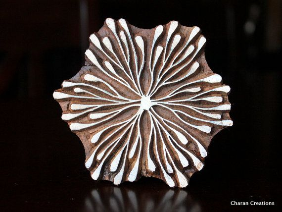 Textile Stamp Pottery Stamp Indian Wood Stamp by charancreations