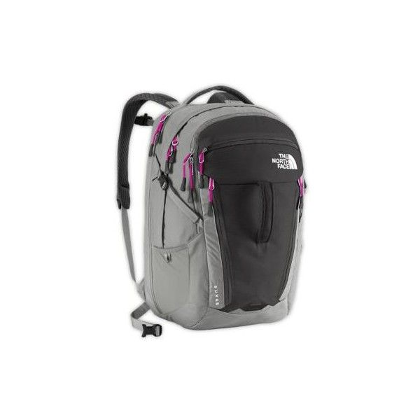The North Face Surge Backpack Exclusive Colors ($129) ❤ liked on Polyvore featuring bags, backpacks, asphalt grey, the north face bag, the north face backpack, rucksack bag, ballistic nylon backpack y padded backpack