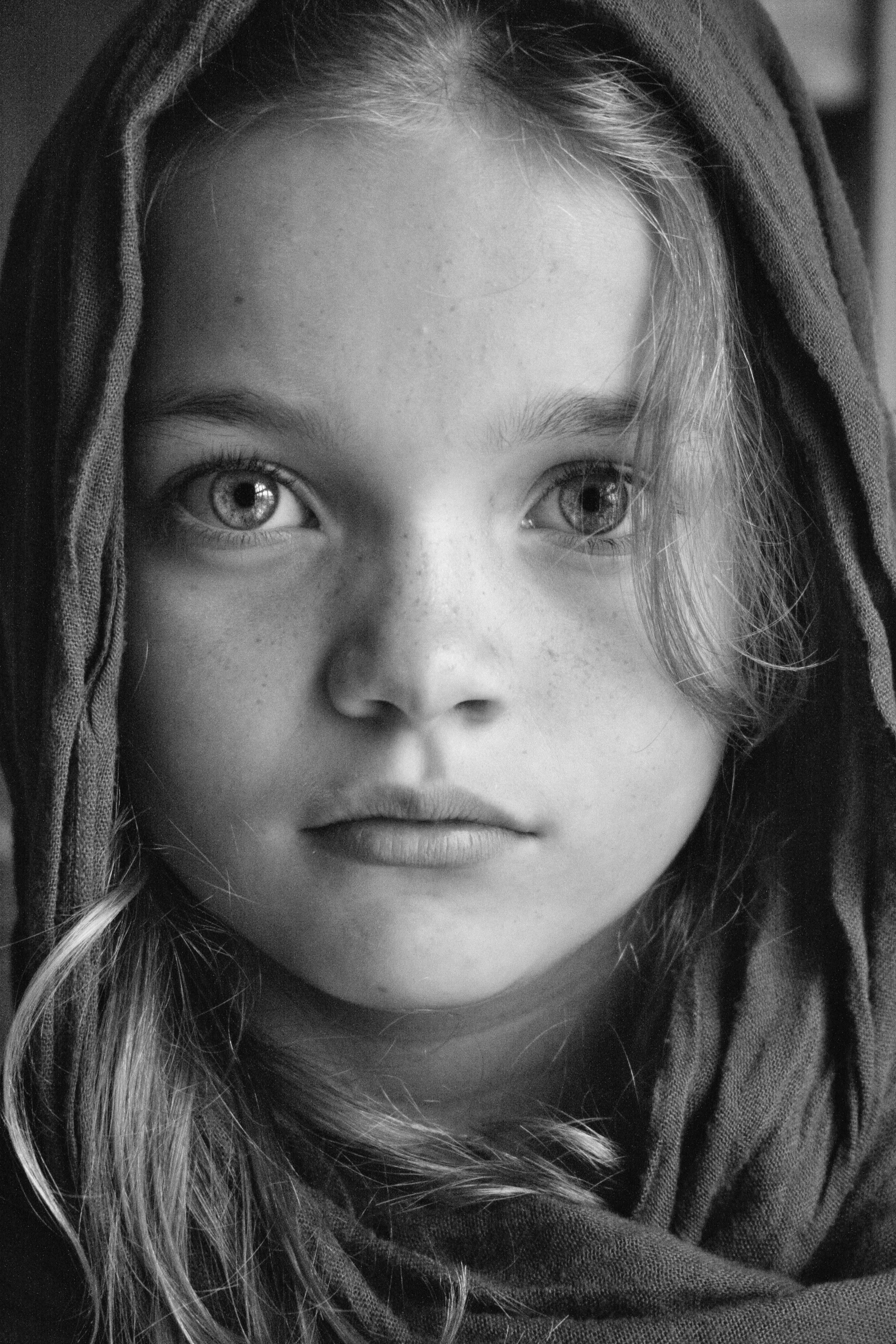 Black and white portrait made by laura den breejen