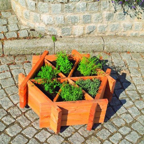 Wood Planter Box Dcor Design Size 27cm H X 76cm W X 72cm D Wooden Garden Planters Planter Boxes Wood Barrel Planters