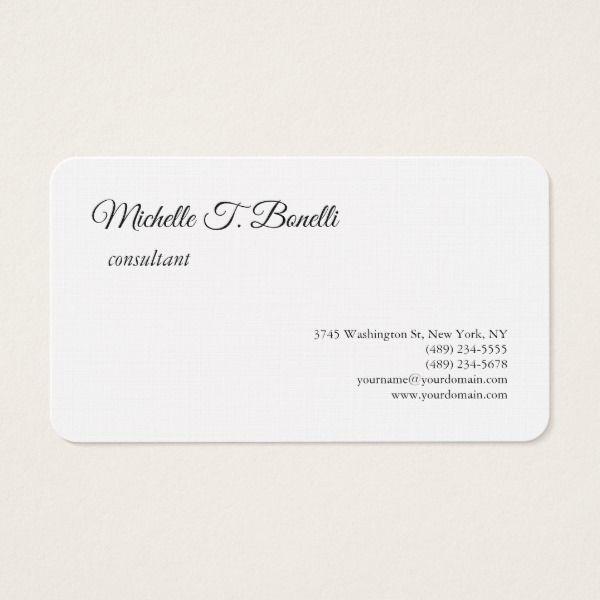 Luxury premium linen black white script minimalist business card reheart Image collections