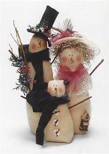 PATTERN Primitive Snowman Doll Family UNCUT OOP Lynn Kennedy RARE