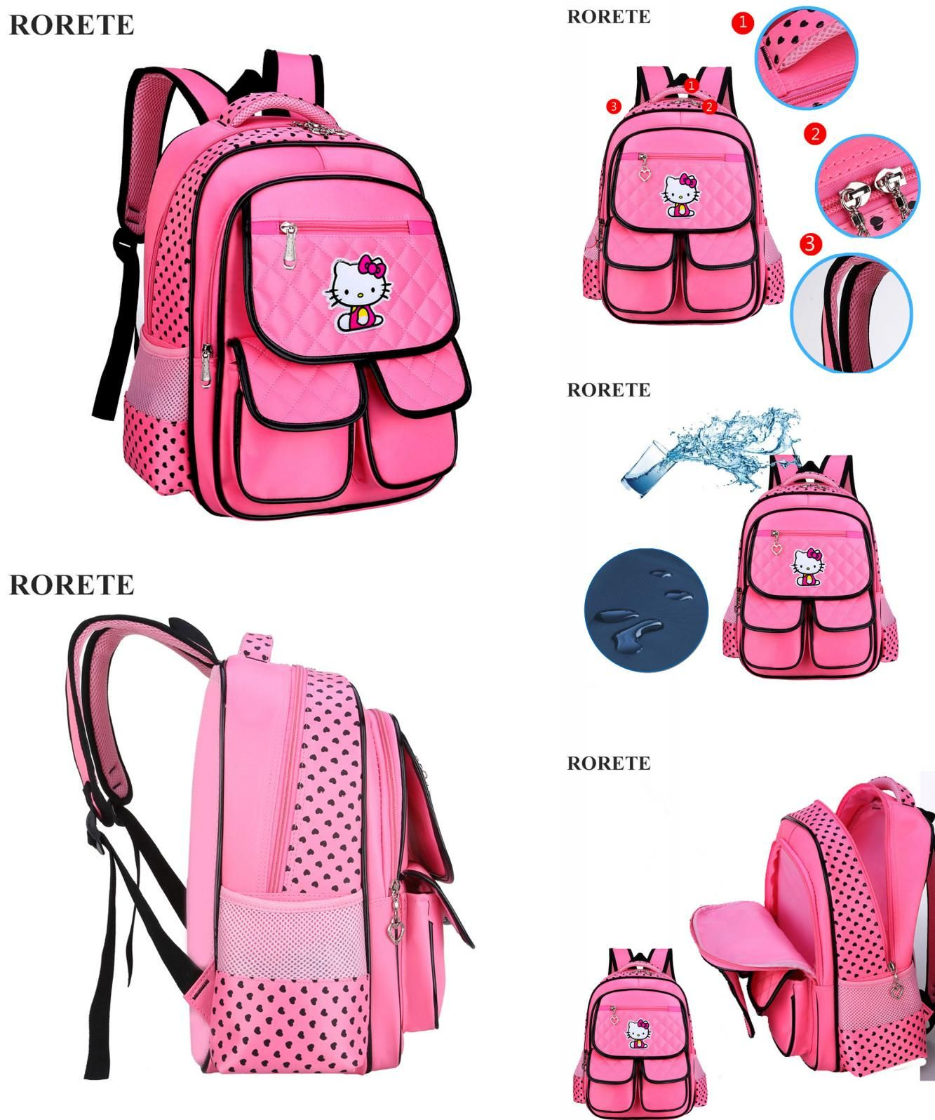 Visit to Buy] Hello Kitty Children School Bags Waterproof Mochilas ...
