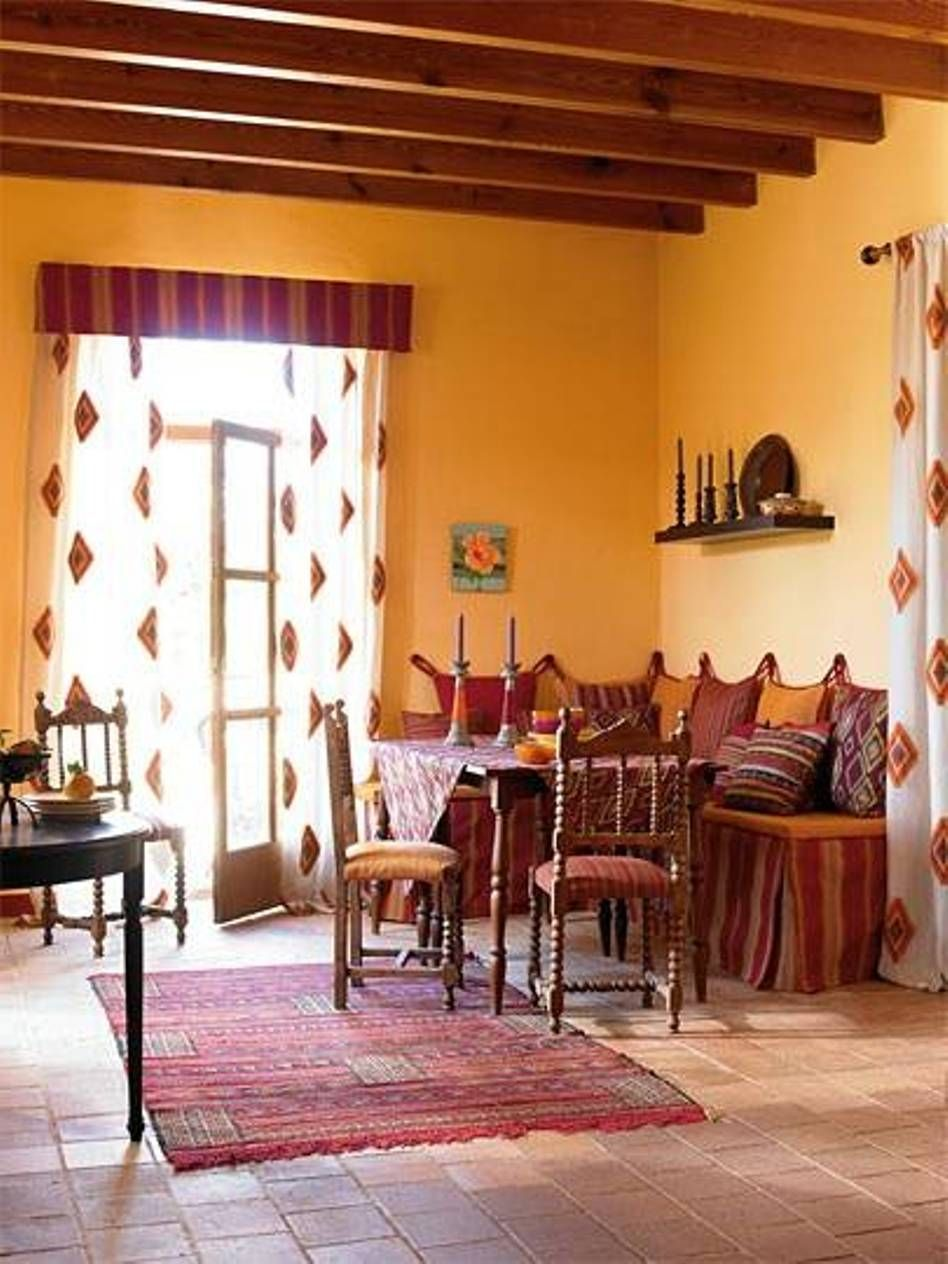 Love The Warm Yellow Orange Walls In This Southwest Living Room Delectable Southwestern Living Room Inspiration
