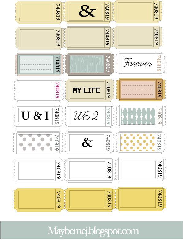 Freebie | Printable Tickets