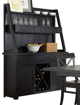 Charmant Liberty Furniture Sundance Lake Traditional Buffet W/ Hutch In Black    Buffets And Sideboards. Dining Room Wine And Coffee Bar