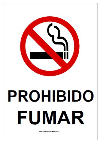 Cartel de Prohibido Fumar   Cartelitos   Pinterest   Printables ...