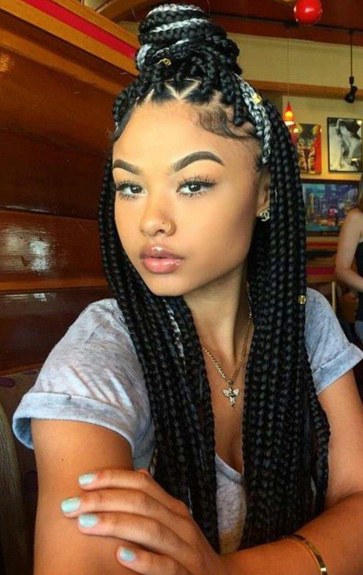 Pin by c w on Hairstyles | Pinterest | Jumbo braids, Weave styles ...
