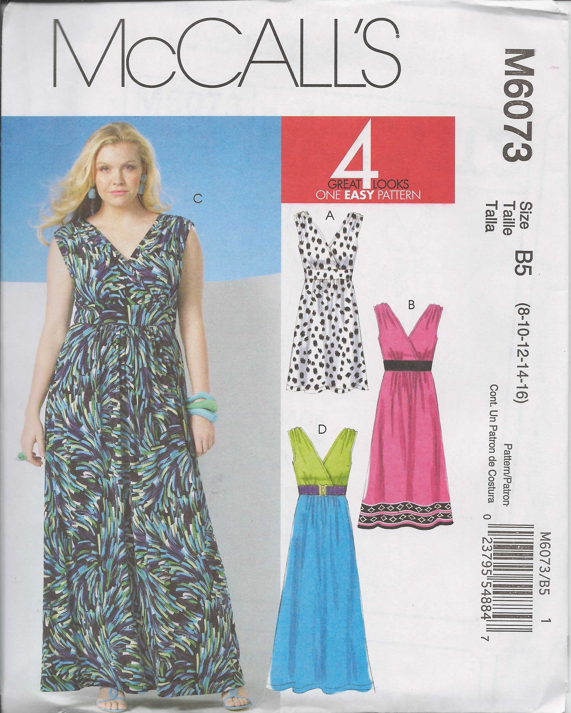 Mccalls 6073 2010 sizes 8 10 12 14 16 pattern library 2010s womens pullover sleeveless dress sewing pattern midi maxi or above knee length misses plus size uncut mccalls jeuxipadfo Choice Image