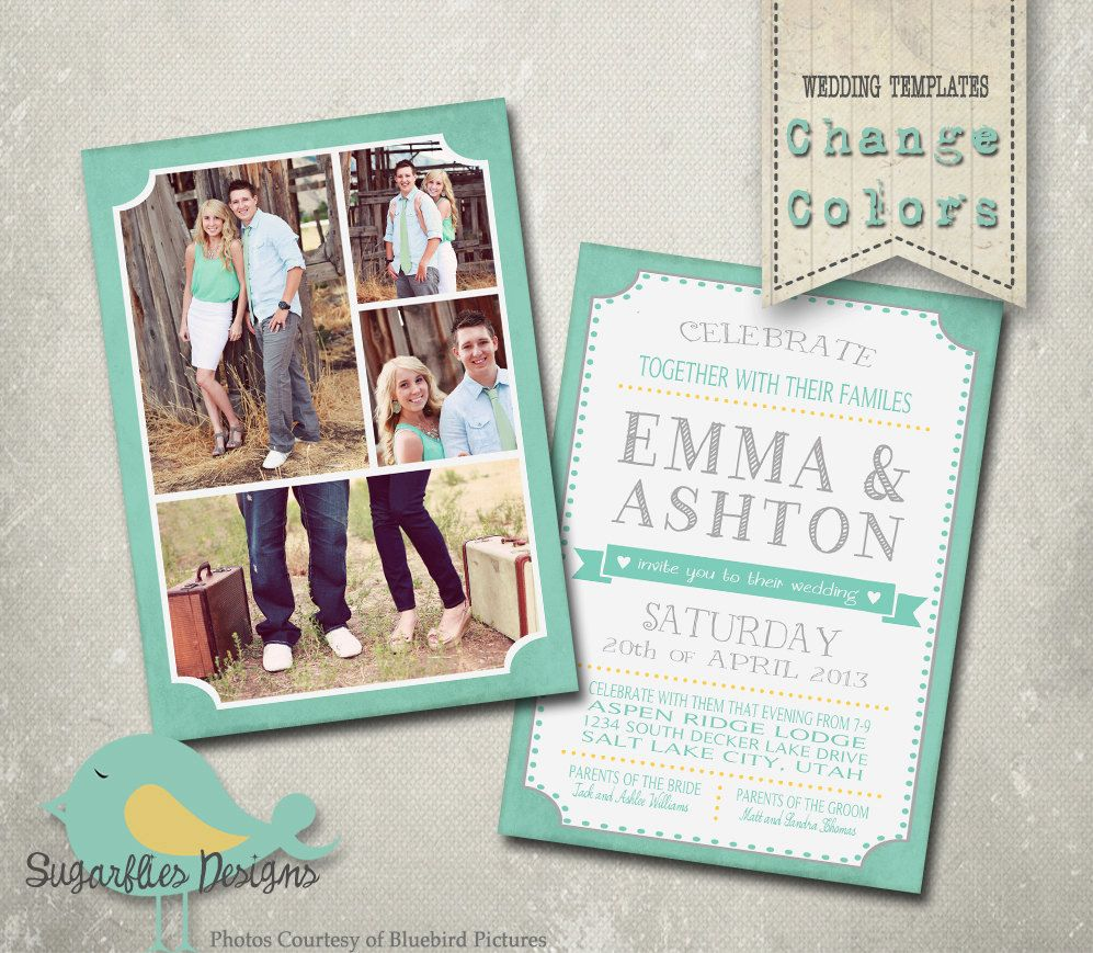 Wedding announcement templates and save the date wedding wedding announcement templates and save the date wedding announcement 15 pronofoot35fo Images