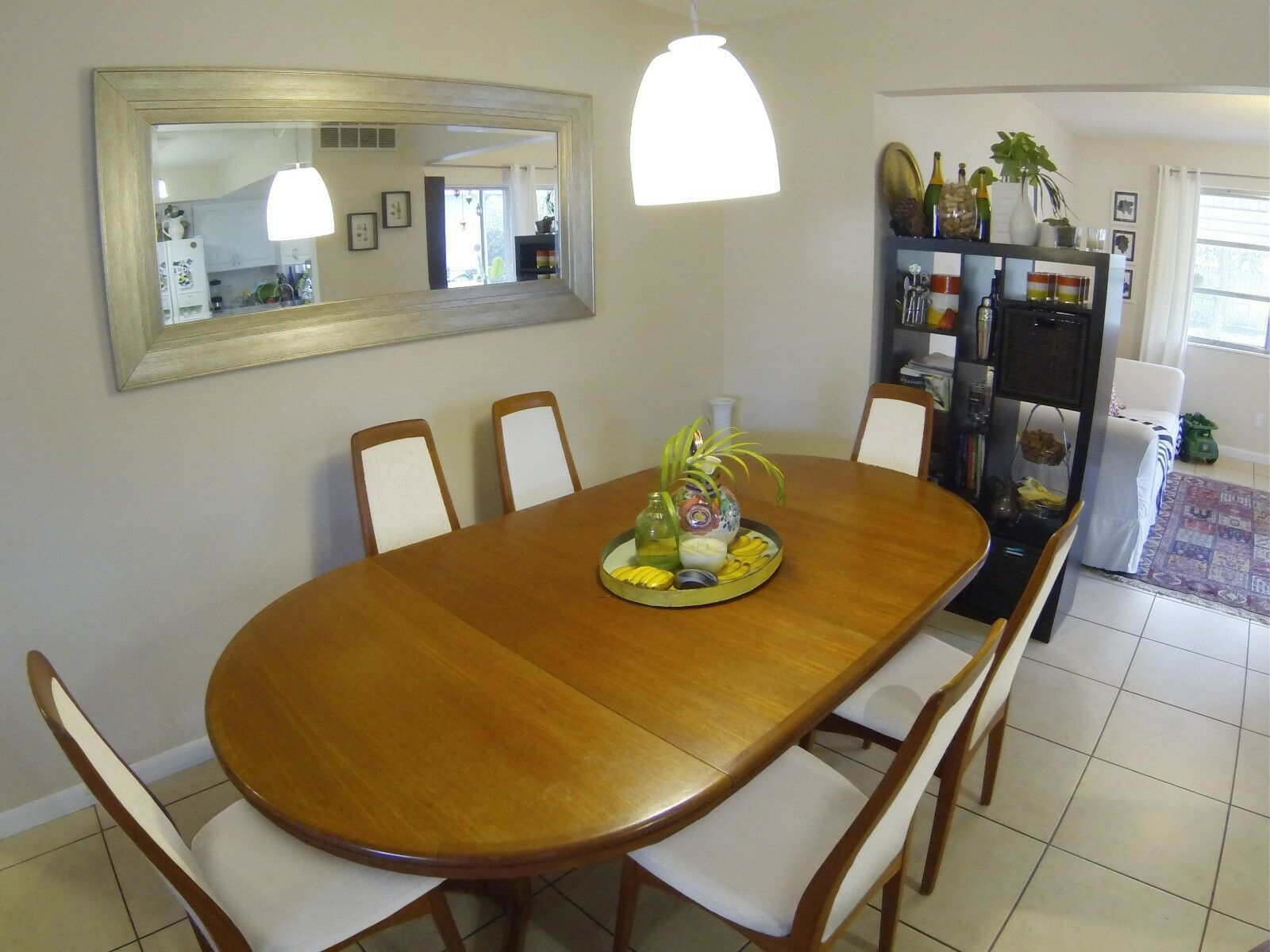 Mid Century Modern Dining Room Set Extendable Table With 6