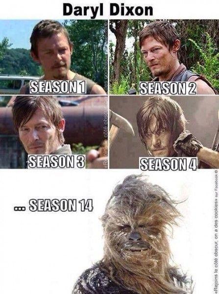 Then Walking Dead Memes Daryl Chewy Thewalkingdead Walking