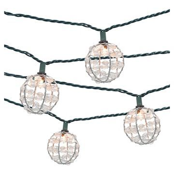 10ct decorative string lights metal wire round cover with plastic 10ct decorative string lights metal wire round cover with plastic beads threshold workwithnaturefo