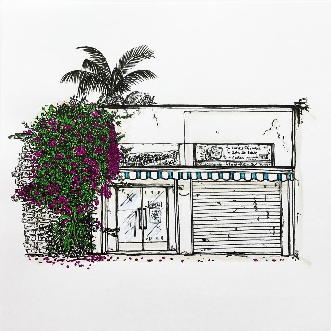 "16 Likes, 2 Comments - W.W. Pierce (@willustrating) on Instagram: ""A shop in Bandol.  #illustrator #illustration #draw #drawing #art #artsy #artist #bandol #france…"""