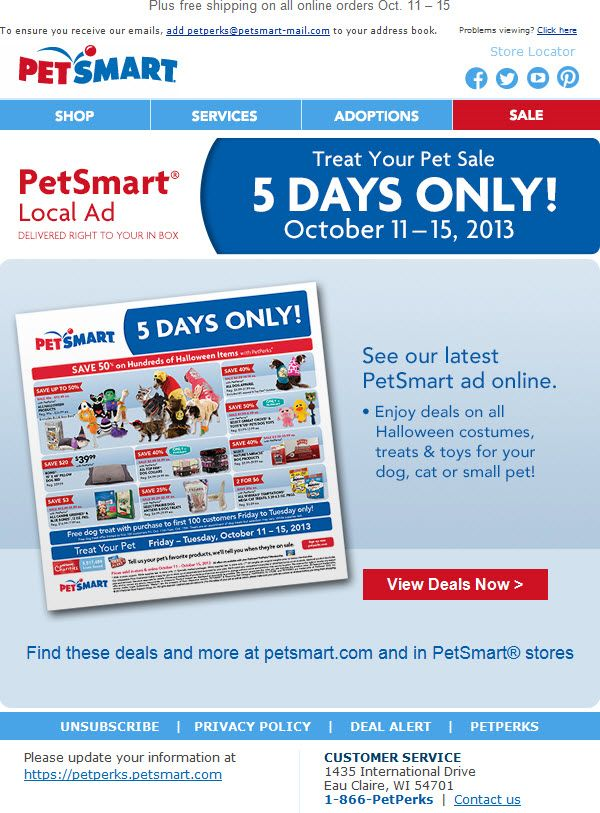 Digital Circular From Petsmart Pet Smart Store Local Ads Petsmart