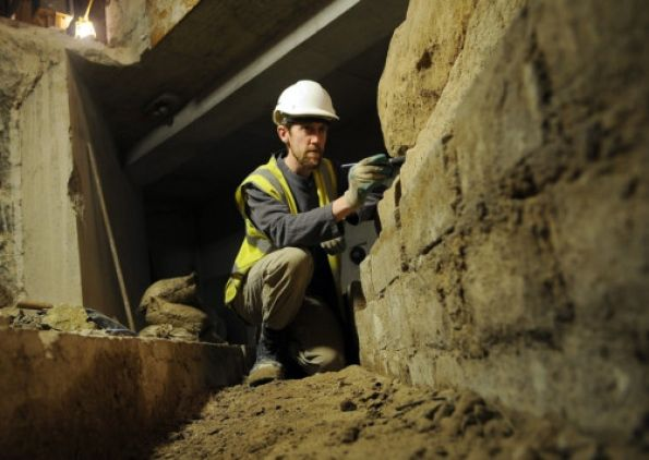 Ian Milsted, lead archaeologist from York Archaeological Trust working on an unearthed road at York Minster.