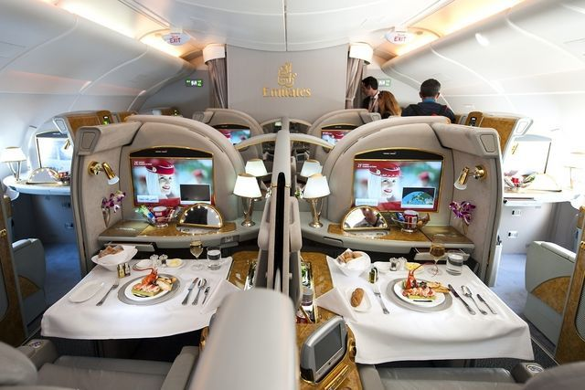 1 Travel The Luxurious Emirates Airbus A380 800 For First Class