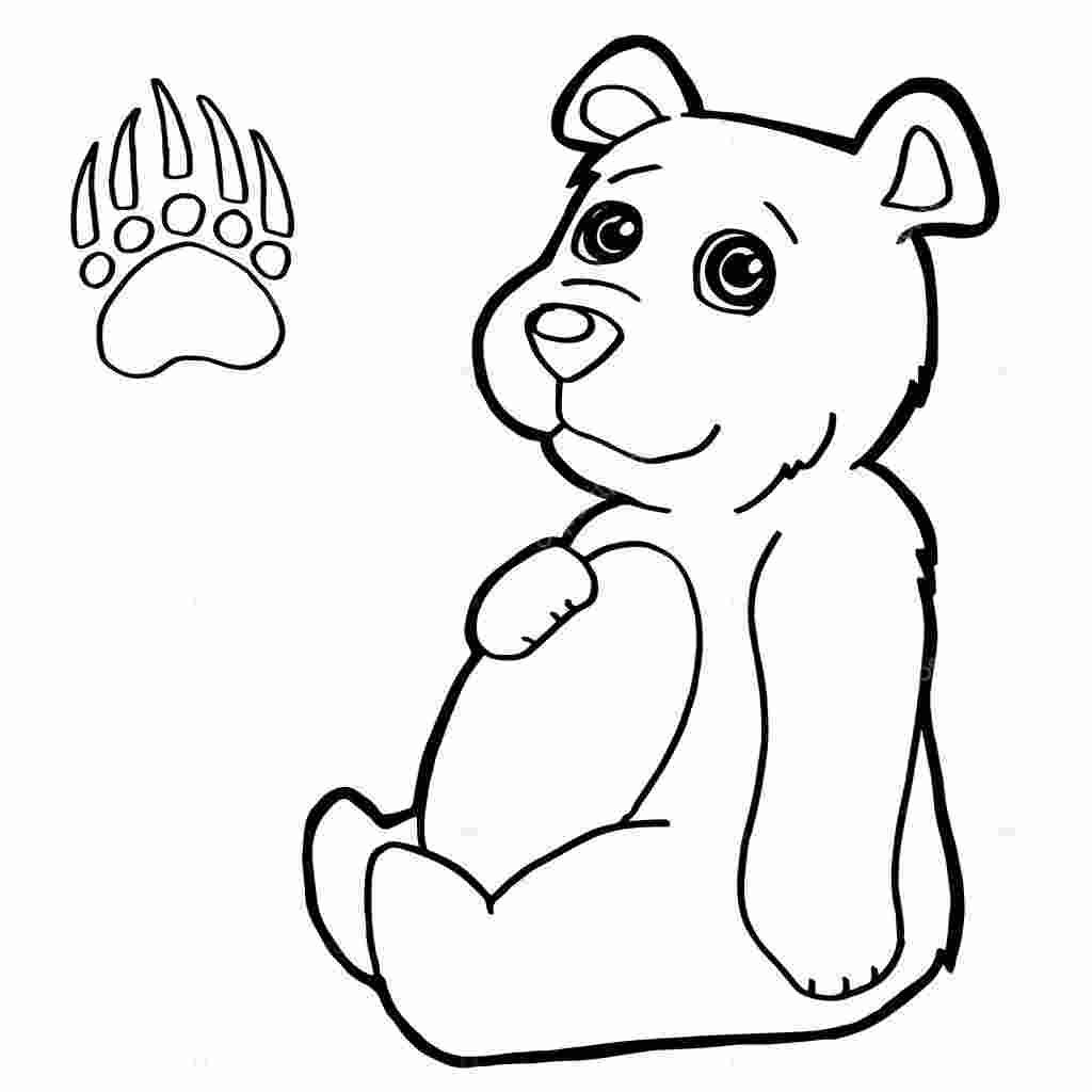 Coloring Pages Kids Polar Bear Paw Print Coloring Page