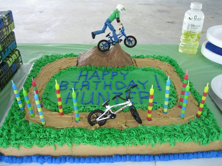 Outstanding Bmx Birthday Cake With Images Bike Cakes Bmx Cake Skateboard Funny Birthday Cards Online Overcheapnameinfo