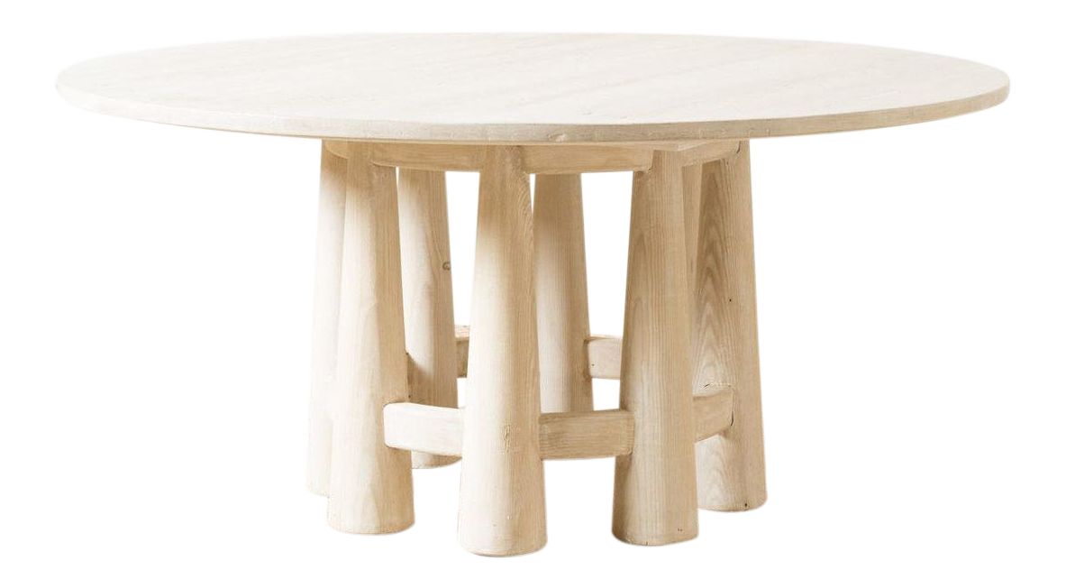 Contemporary Lucy White Wood Dining Table Chairish Dining Table Table Dining