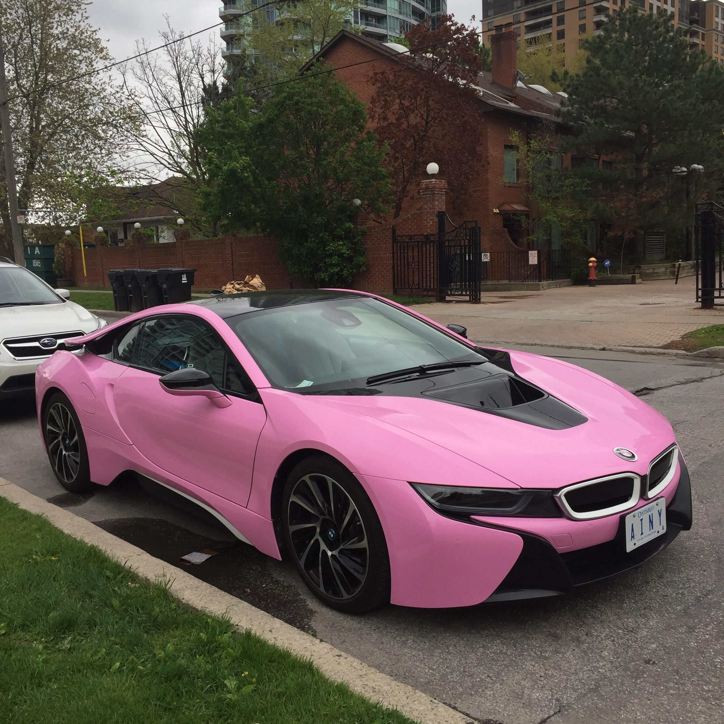 Deluxe Cars In The World This Year Should Be A Whole Lot Extra Intriguing Considering That Some Luxury Brand Names Make Complete Re Pink Bmw Pink Car Bmw I8