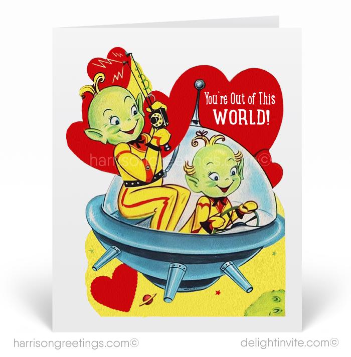 1950s Vintage Valentines Card Retro Vintage 1950s Valentine S Day