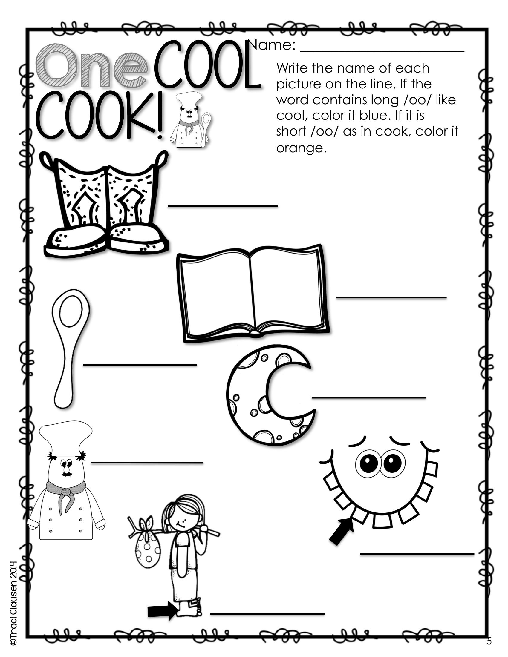 Oo Vowel Worksheet For Kindergarten