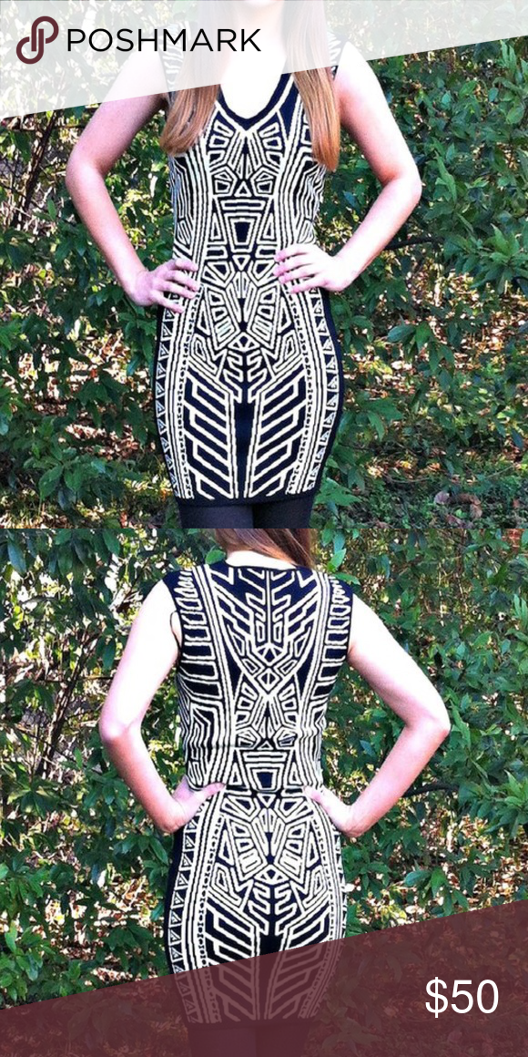 c86e05d9f5e NEW Flying Tomato Aztec Print Sweater Dress Brand new from a local  boutique! This Flying Tomato Aztec print sweater dress is black and white  and has a ...