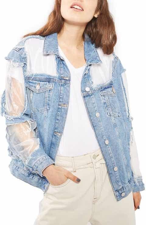 Topshop jeansjacke blumen