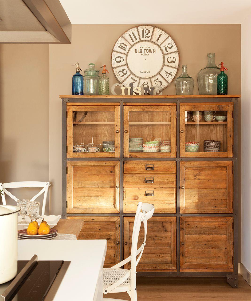 Office Con Mueble Vajillero R Stico Y Sifones Antiguos No Busques  # Muebles Vajilleros Para Comedor