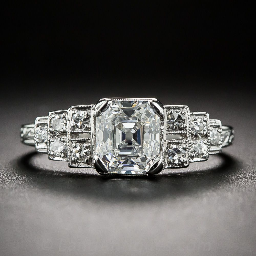 carat asscher cut diamond ring gia d vs lang