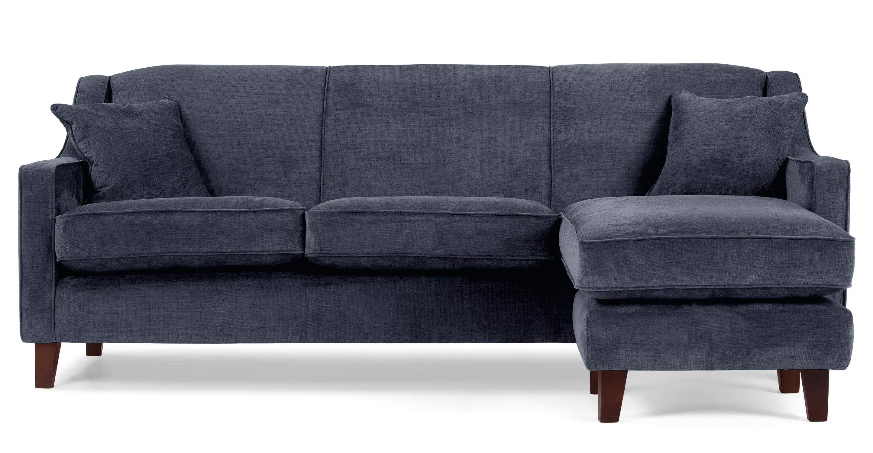 An Elegant Design Reminiscent Of The 1920s The Halston Large Corner Sofa In Midnight Blue Has A Deep Comfy Sea Corner Sofa Grey Corner Sofa Blue Corner Sofas