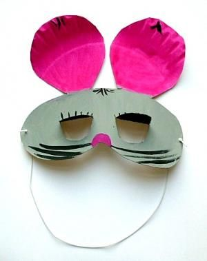 Bastelsachen3basteln Maske Maus Pappteller Fasching