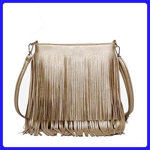 Womens Golden Cross Body Handbags messenger shoulder-slung designer bag ( gold) - Crossbody bags ( Amazon Partner-Link) ac3baaf289