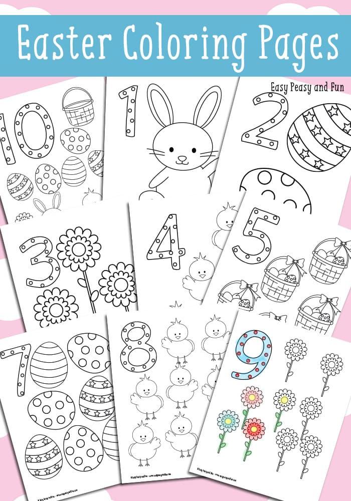 Easter Coloring Worksheets Kindergarten