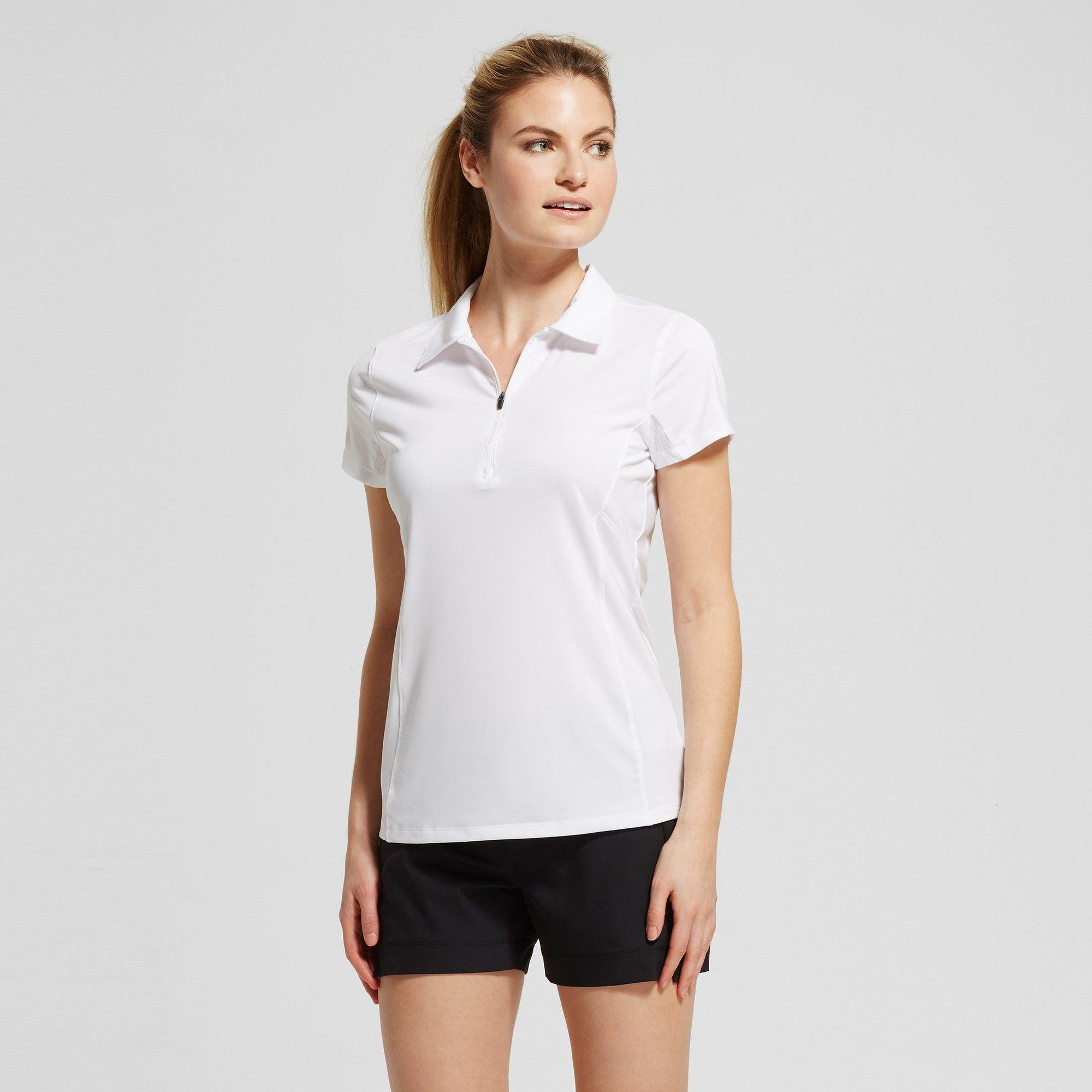 1170f872 Women's Zip Up Golf Polo Shirt - C9 Champion - White Xxl #GolfPolo ...