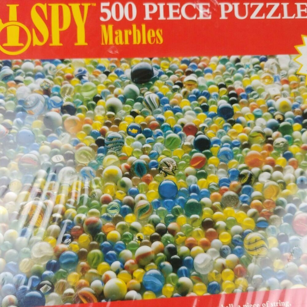 I Spy Puzzle 500 Piece Marbles Find The Hidden Item Riddle Sealed Briarpatch Ebay In 2020 Riddles 500 Piece Puzzles Puzzle