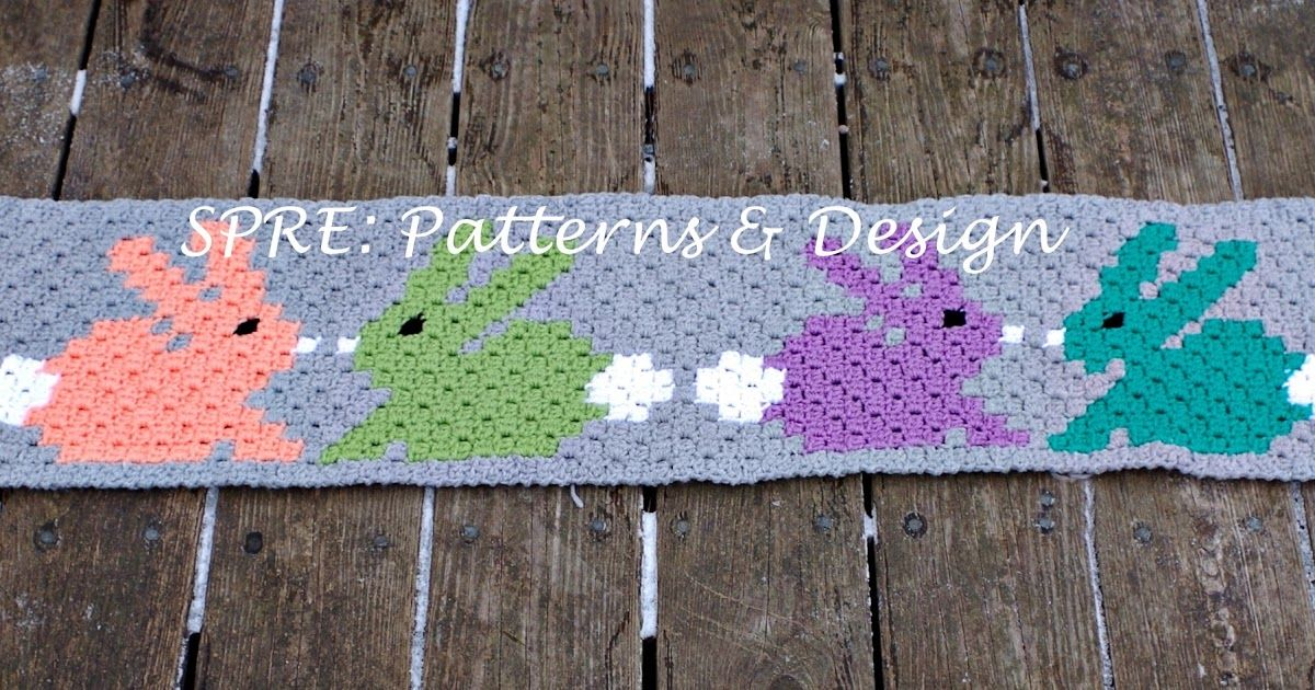 C2c Graph For Easter Bunny Table Runner Crochet Curtains And Table