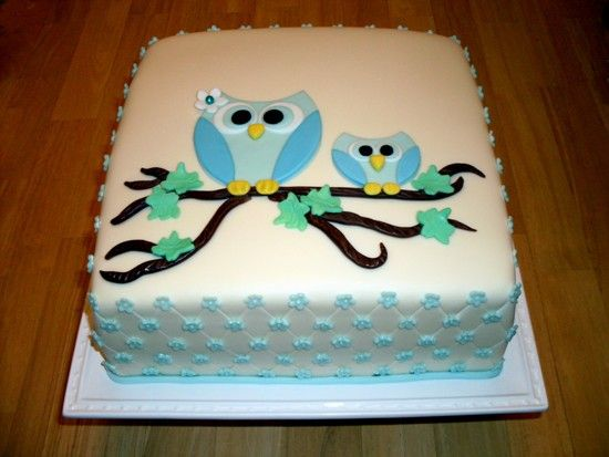 Simple Owl Cakes Owl Birthday Cake Pinterest Owl birthday