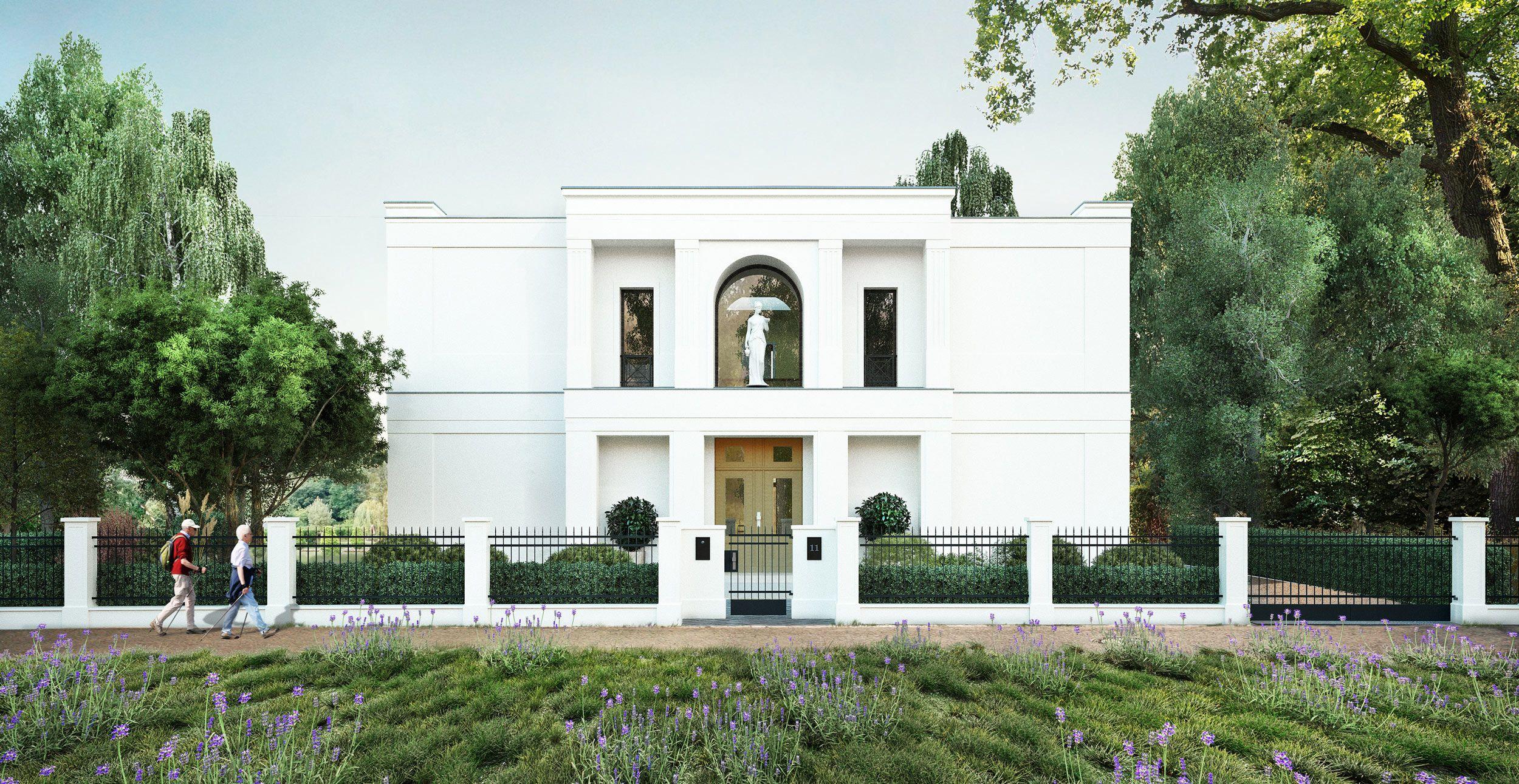 neubau einer portikusvilla im klassik stil vogel cg