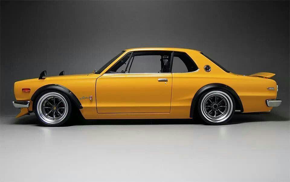 Yellow Hakosuka Jdm Nissan Skyline Gtr Hakosuka Datsun