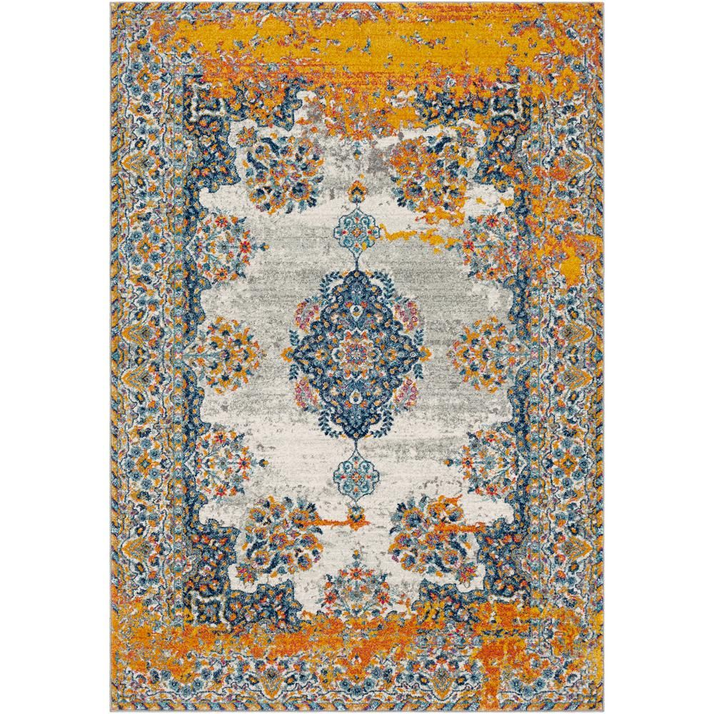 Nursted Gold Navy Gold Blue 7 Ft 10 In X 10 Ft 3 In Area Rug