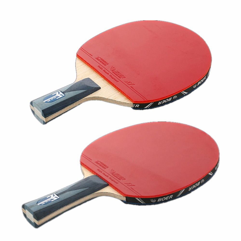 Boer 1pcs Table Tennis Racket Fast Attack Rubber Carbon Fiber Short Long Handle Ping Pong Racquet Professional Ping Table Tennis Table Tennis Racket Ping Pong