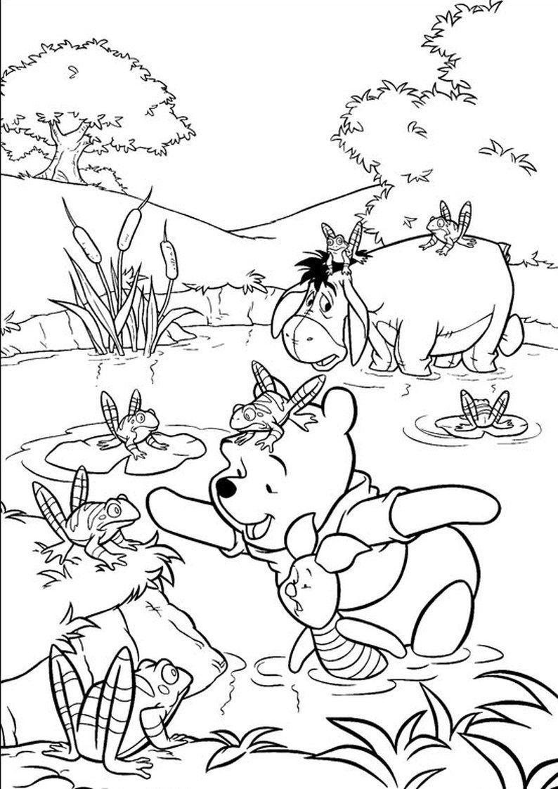 Kolorowanka Kubus Puchatek Z Prosiaczkiem I Klapouszkiem Malowanka Do Wydruku Nr 2 In 2020 Winnie The Pooh Pictures Cartoon Coloring Pages Coloring Pages